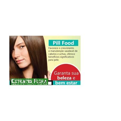PILL FOOD Capsulas para fortalecer Unhas e Cabelos